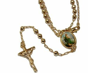 Cristo Misericordioso Medal18k Gold Plated with 18 Chain Merciful Christ Medal