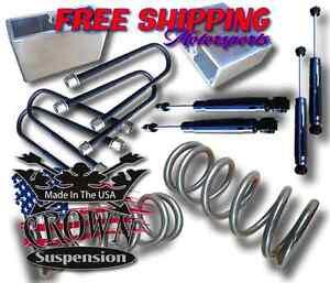 "2/"" Coil Springs 4/"" Rear Blocks Lowering Drop Kit V6 Fits 1982-2004 S10 Blazer"