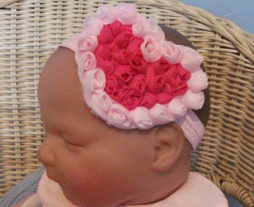 Boutique bébé fille//enfant ROSEBUD 3 in environ 7.62 cm Cœur Bandeau plusieurs couleurs