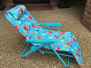 Little Mermaid Ariel Lounge Patio Chair Disney Folding