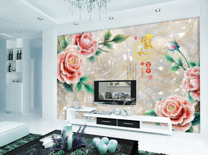 3D Jade produziert Blaumen  Fototapeten Wandbild Fototapete BildTapete Familie DE