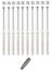 10St-10x200-Rahmendubel-Fensterrahmendubel-Dubel-Senkkopf-Torx40-incl-Bit-S miniature 1
