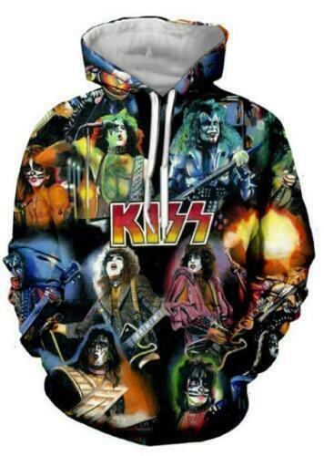 Rock Kiss Band 3D Print MensWomens Hoodie Sweater Sweatshirt Pullover Jumper top