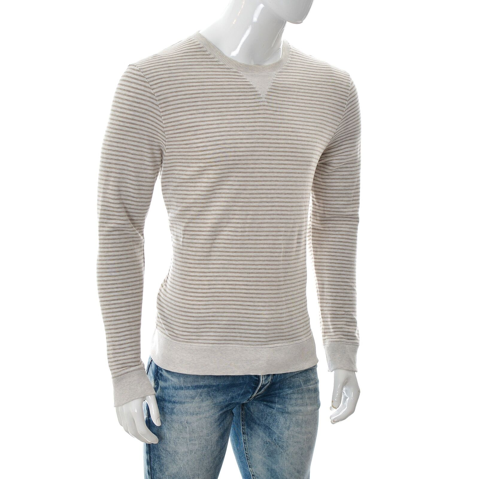 COS Mens Mustard Jacquard Knitted Sweater Jumper Crew Pullover Polo Top S To XL
