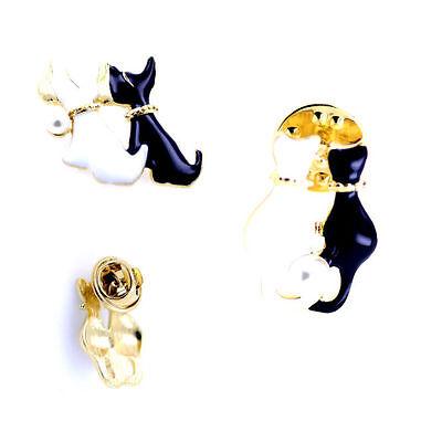 Negro Y Blanco Esmalte Panda Broche//Pin múltiples opciones