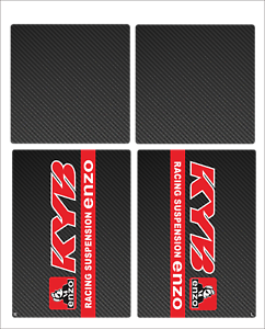 KYB ENZO UPPER MIDDLE FORK GUARDS DECAL STICKER GRAPHIC MOTOCROSS