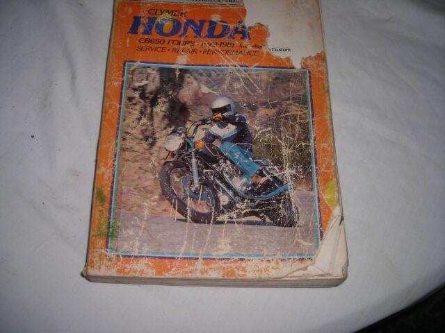 Clymer Honda Cb650 Fours 1979
