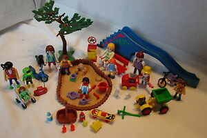 Vintage Retired Playmobil 3822 Dino Slide / Sand Pit Park w/ Extra People & Acce