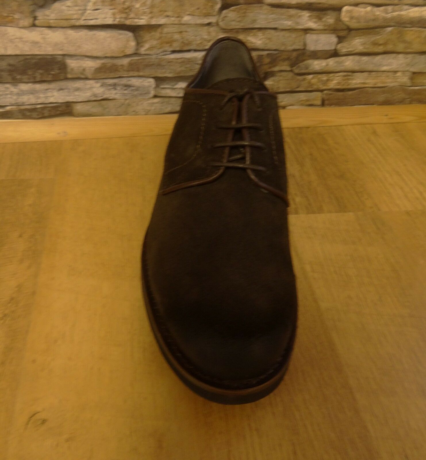 Fynch-Hatton Mens Brown Suede Lightweight Lace Up Shoe Size 43 / 9.5 New