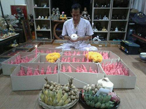 Magic Phor Ngang Ajarn Phrot Thai Amulet Love Business Luck Trade for bucha #2