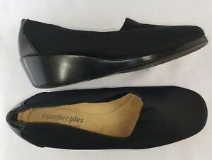 Comfort-Plus-By-Predictions-Women-039-s-Wedge-Slip-on-Loafers-Black-Size-10