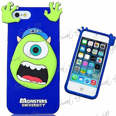 3D Cartoon Silicone Rubber Back Case Cover For Apple iPhone 4S,4,5S,5,SE,6,6+,S4