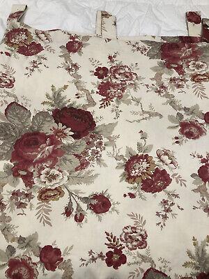 Waverly Garden Room Norfolk Rose Tab, Waverly Garden Room Curtains