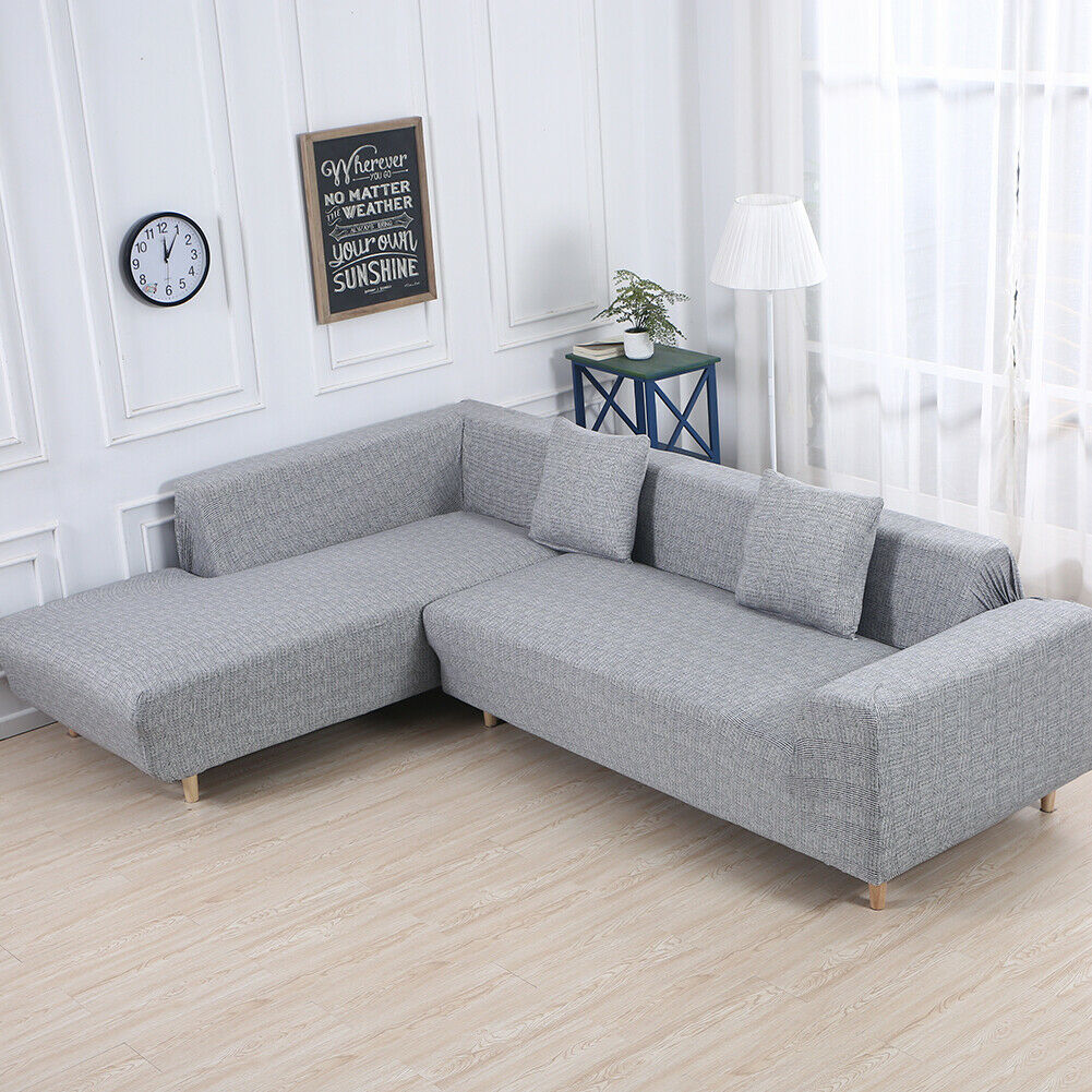 Sofa Covers For L Shape Couch 2pcs Fabric Stretch