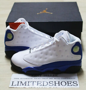 official photos bae6f 81420 Details about NIKE AIR JORDAN 13 XIII RETRO PS WHITE HYPER ROYAL BLUE  414575-117 ITALY kids