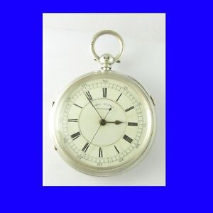 Stunning-Liverpool-Silver-Fusee-Centre-Sec-039-s-Chronograph-Pocket-Watch-1894