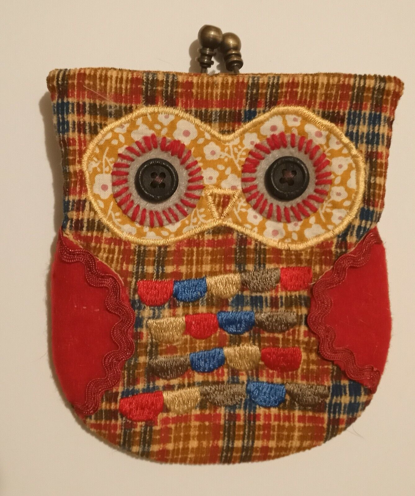 Owl Material Purse, and secured with a clip.