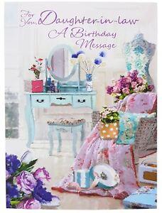 Daughter-en-Law-Birthday-Mensaje-Tarjeta-de-Felicitacion-19-5CM-X-13-5CM
