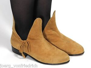 Leder-Vintage-Stiefel-Damenstiefel-Ethno-Boho-Aladdin-Haremsstil-Muck-39-5-40
