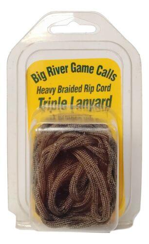 Big River Game Calls Heavy Braided Rip Cord Triple Lanyard