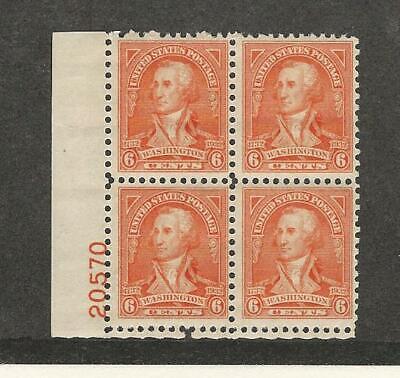 Aggressiv Vereinigte Staaten, Briefmarke, #711 Postfrisch Nh Block, 1932 Washington, Jfz Hohe QualitäT Und Geringer Aufwand