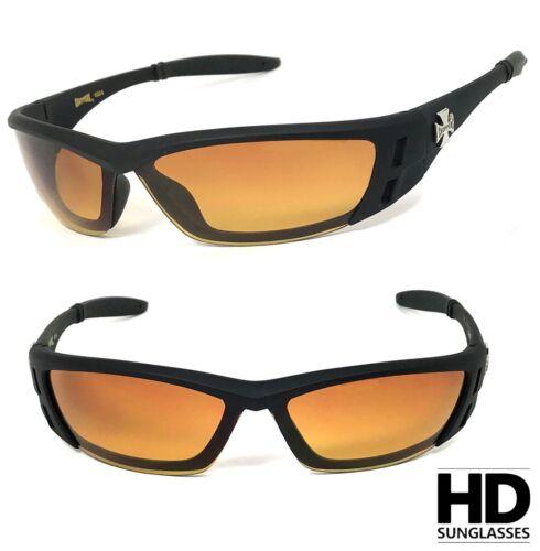 Choppers Anti-Reflective Biker Motorcycle Riding Glasses Sunglasses Semi Rimless
