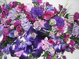 Purple-Pansy-Grave-Pillow-Silk-Cemetery-Wildflowers-Easter-Mothers-Day-Floral