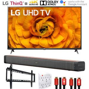 """LG 65UN8500PUI 65"""" UHD 4K HDR AI Smart TV (2020) Deco Soundbar Bundle"""