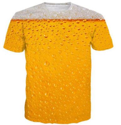Womens//Mens Bubble Beer Funny 3D Print Casual T-Shirt Short Sleeve Tops Tee 5XL