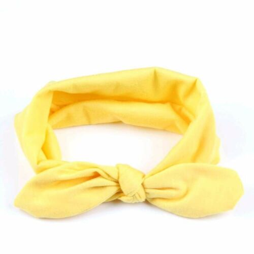 Baby Bow Solide Bandeau Head Wrap Enfants Filles Cheveux Bande Ruban Accessoire Rose