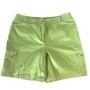 Women-039-s-Field-Gear-Shorts-Size-10-Pockets-Hiking-Outdoor-100-Cotton-Green