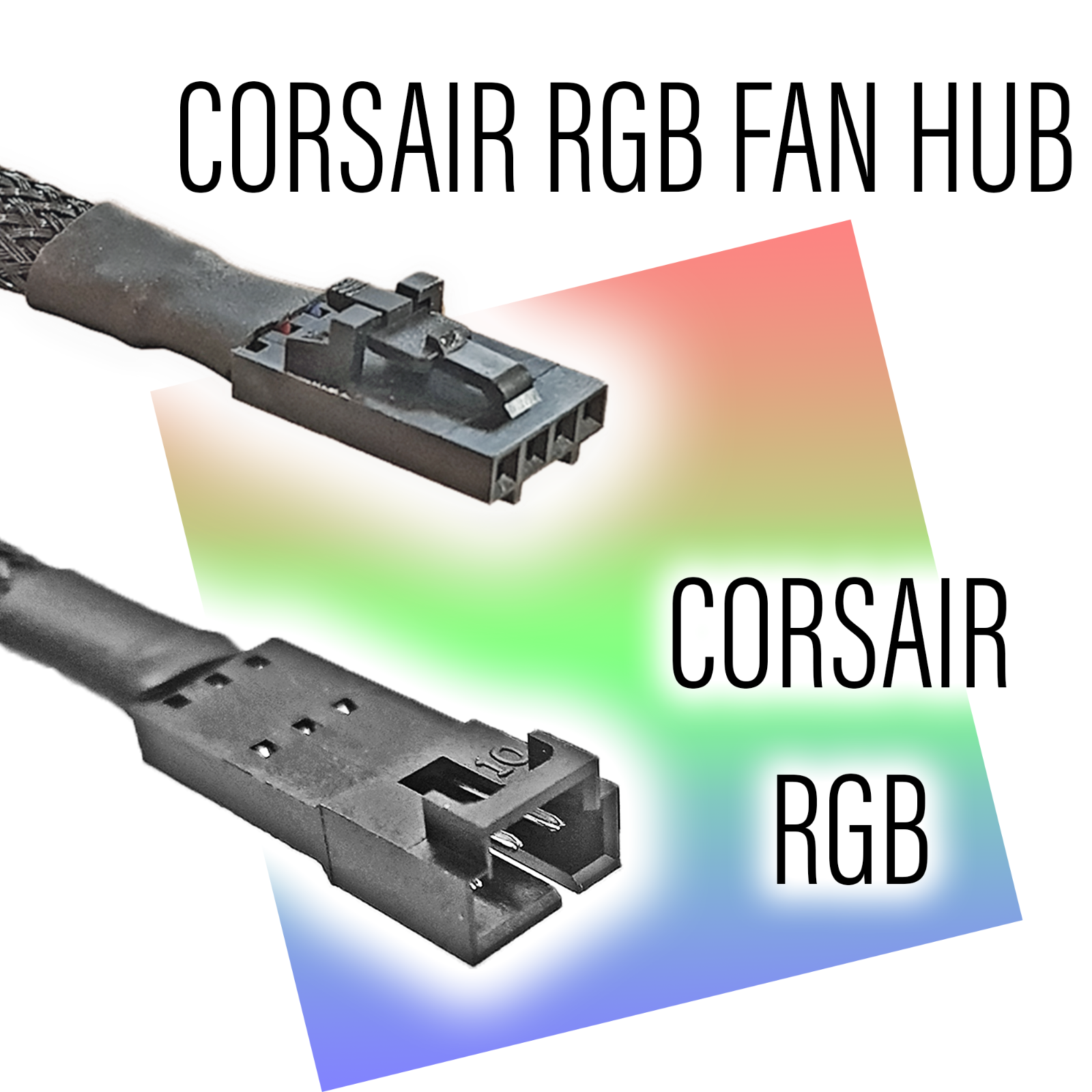 Corsair RGB Fan Hub to Corsair RGB Strip Adapter