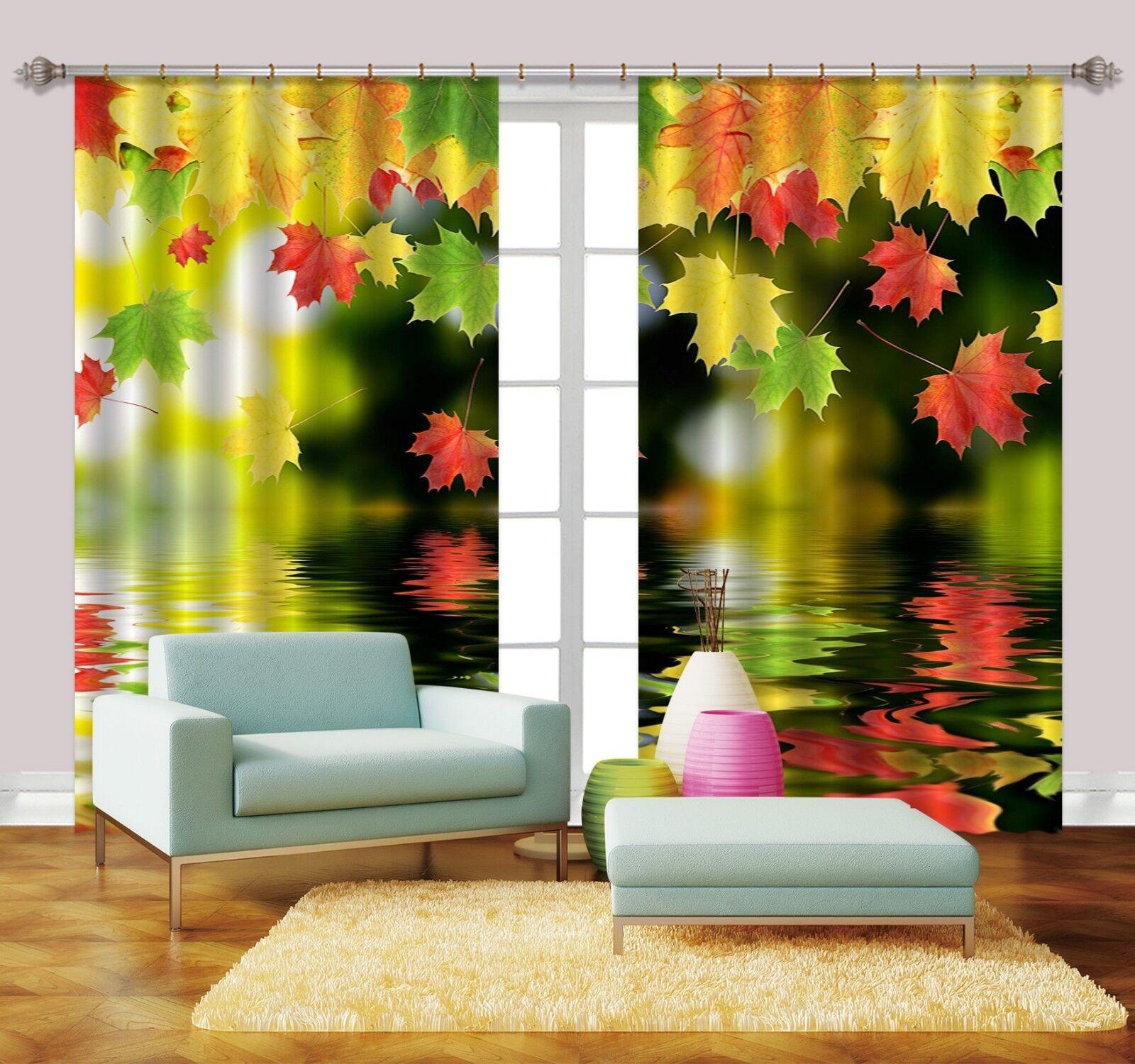 3d rojo hoja de arce bloqueo 6 cortina de fotografía presión cortinas cortina de tela de ventana