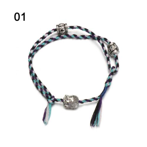 Tissage bouddhiste noeuds Bracelet Fil de Coton Bracelet Tibétain corde Weave Bracelet