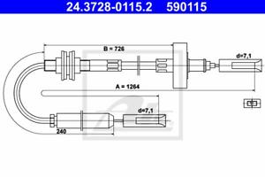 Seilzug Kupplungsbetätigung ATE 24.3728-0115.2