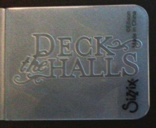 Sizzix Small Embossing Folder DECK THE HALLS fits Cuttlebug Big Shot /& Wizard