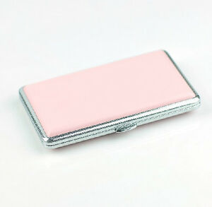Pink-Leather-Slim-Cigarette-Case-Box-100-039-s-Hold-For-14-100mm-Cigarettes-308