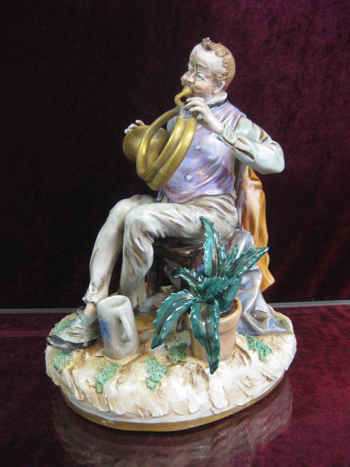 Scheibe Alsbach Figur  Heinz Schober Tuba Musik Horn Trompete Porzellan
