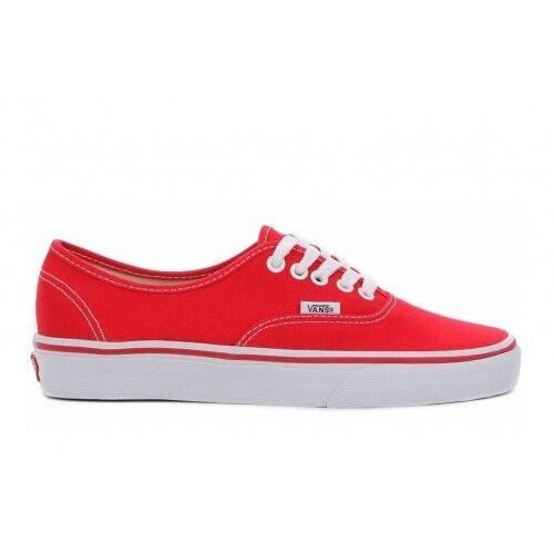 Vans Authentic Classiche Tela red Suola white shoes ORIGINALI ® ITALIA 2018