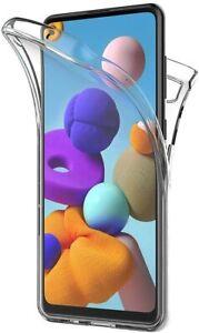 Pour Samsung Galaxy A21S Coque Gel 360 avant + Arrière Protection INTÉGRAL