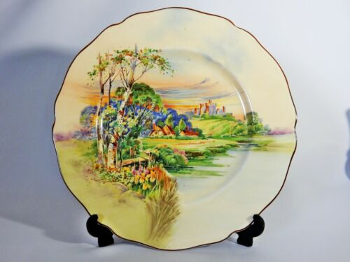 Antique Art Deco Royal Doulton Summertime in England Display Plate Dish D6131