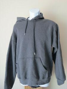 MEDIUM-vintage-FRUIT-OF-THE-LOOM-Gray-Grey-Men-039-s-Sweatshirt-Hoodie-Front-Pocket