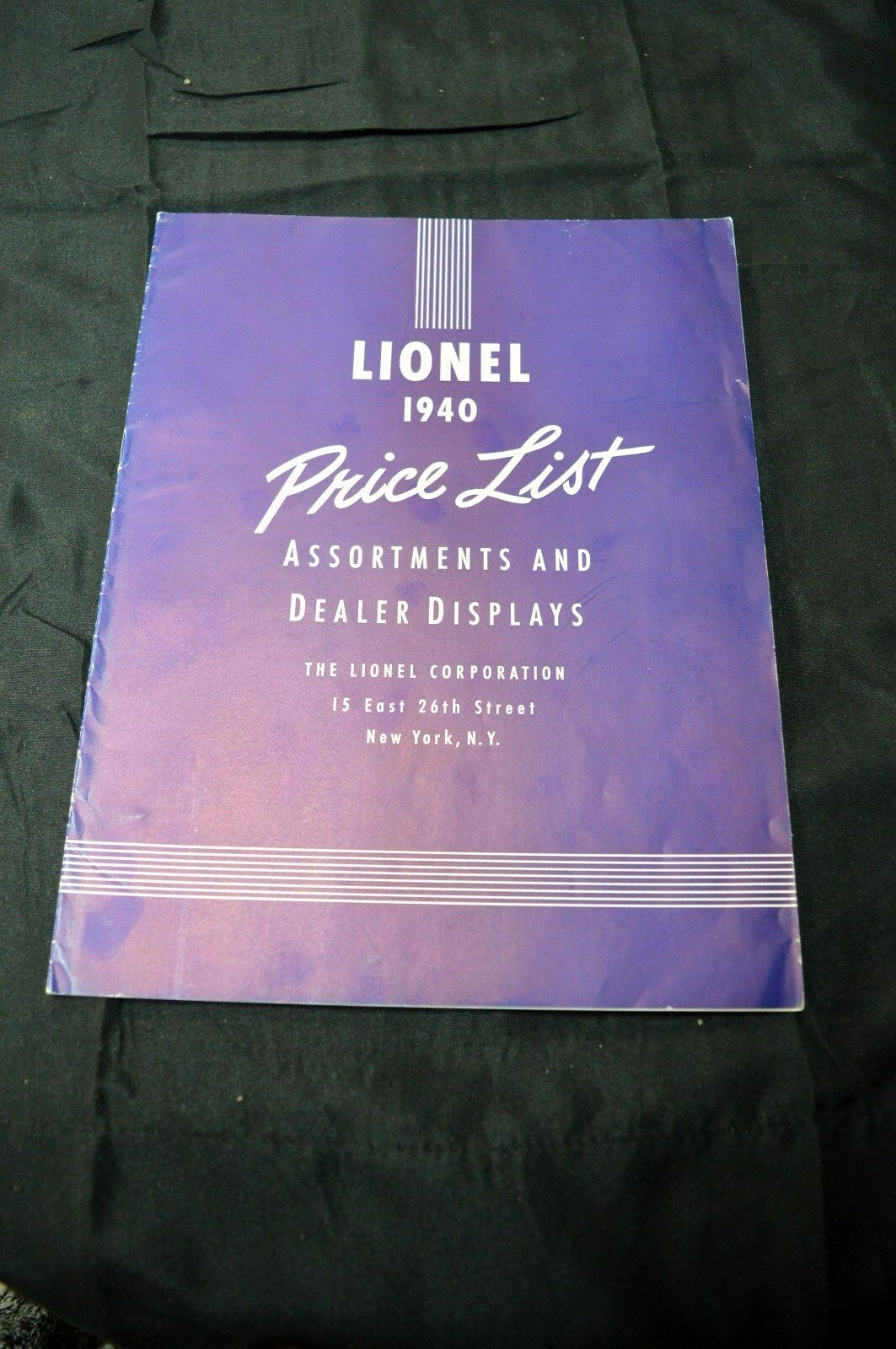 Lionel 1940 Price List - Assortments and Dealer Displays - Excellent Condition