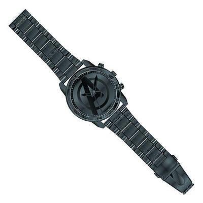 MARVEL Comics Licensed AVENGERS Logo Gunmetal Wrist WATCH METAL Bracelet BAND