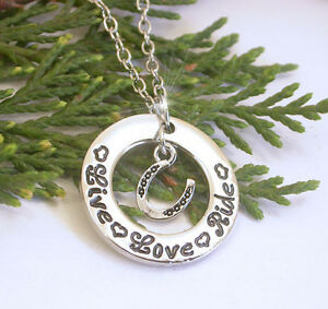 HORSE-amp-WESTERN-JEWELLERY-JEWELRY-LIVE-LOVE-RIDE-NECKLACE-SILVER