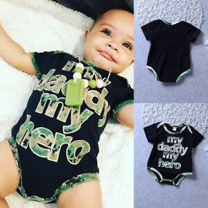 de5e6c6533f5 Newborn Infant Baby Boy Girl Hero Romper Jumpsuit Cotton Bodysuit ...