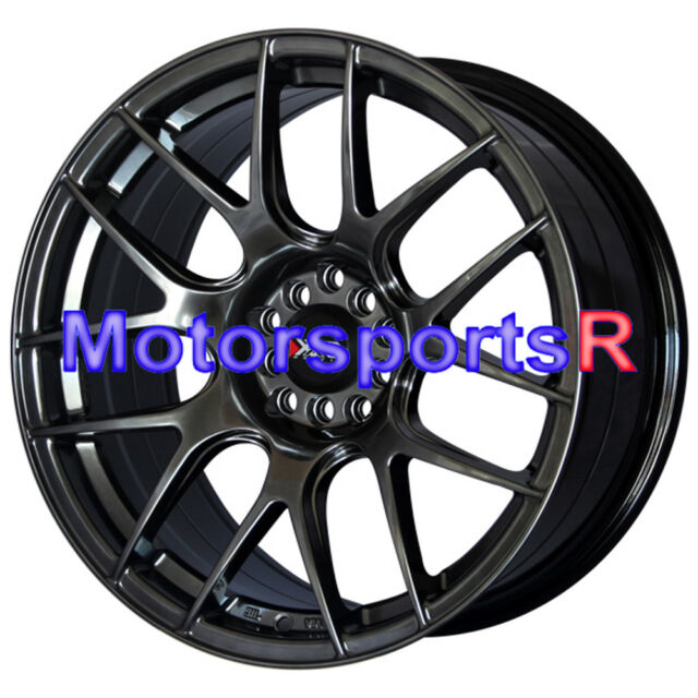 XXR 530 18 Chromium Black Wheels Rims Concave 5x114.3 04