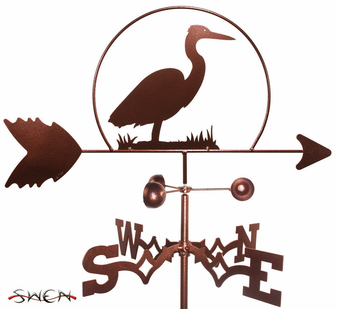 Swen productos Heron Bird Acero Weathervane