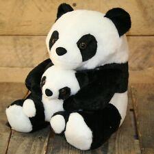 Adorable Black And White Panda Doorstop With Baby ~ Decorative Panda Door Stop
