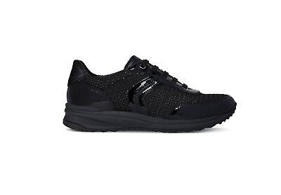 Dettagli su GEOX THERAGON sneakers nere scarpa donna blacknero D848SA inverno 2018 2019